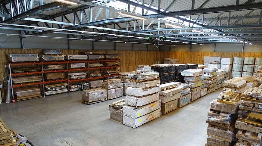 warehouse storage building steel industrial