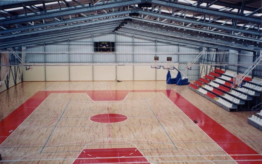 opførte basketball arenaer